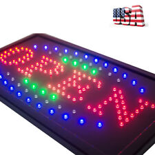 High Visible Led Light Business Open Sign Chain Switch 25*48 Usa Stock 3 Color