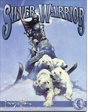 Frank Frazetta Silver Warrior Polar Bears Fantasy Tin Metal Sign New