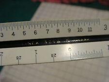 vintage triangle Ruler: LINEX 301A Denmark Henschel co. no. 600 in case
