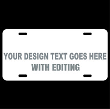 Personalized Custom License Plate Auto Car Tag Design Your Own