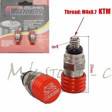 Moto MX M4*0.7mm Fork Bleeder Relief Valve Fork Relief Valve Fit KTM SX SXF EXC