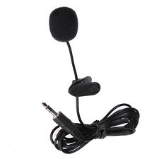 3.5mm Hands Free Clip On Mini Lapel Mic Microphone for Phone MP3/MP4 PC Laptop