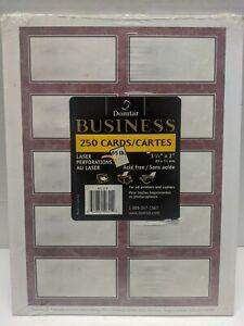 Domtar Business 250Cards/Cartes Laser Perforations 3/12-2 In Read description