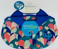 Built BYO RAMBLER Soft Neoprene Lunch Bag MULTI-COLORED HEARTS on TEAL NWT