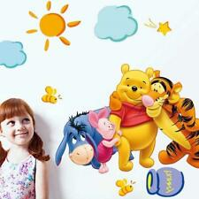 Baby Bedroom Winnie the Pooh Cartoon Wall Stickers Child Nursery Art Decal Decor