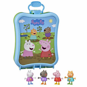 Peppa Pig Peppa's Adventures Peppa's Carry-Along Friends Case Toy, 4 Figures