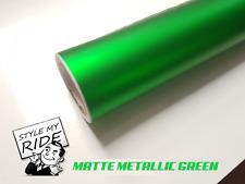 3M x 1.52M Matte Metallic Green Vinyl Car Wrap Air Release Free Squeegee