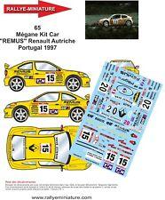 DECALS 1/18 REF 65 RENAULT MEGANE MAXI SPERRER RALLYE DU PORTUGAL 1997 RALLY WRC