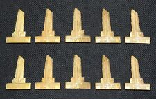 (10) Vintage * ROCKEFELLER CENTER * New York * STAMPED BRASS Ornament, Charm