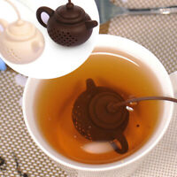 KQ_ BL_ KE_ Teapot-Shape Tea Infuser Strainer Silicone Tea Bag Leaf Filter Diffu