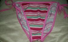 Gorgous pink striped MARKS AND SPENCER side tie bikini bottoms size 12