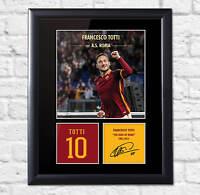 Francesco Totti Signed Mounted Photo Display Roma
