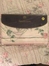 Sanderson Ville De Lyon Twin Flat Sheet Pink Floral Vines Pink Utica English NEW
