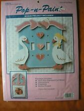 Pop N Paint Double Switch Plate & Picture Frame- Goose Gossip - New Sealed Kit
