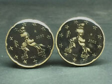 Italy  coin cufflinks BOCCIONI Unique Forms of Continuity in Space 22mm
