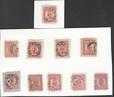 FINLAND 1866 Serpentine 40p pink on lilac fine - 3760
