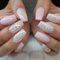 600pcs Kunstnägel Krallentips Künstliche Natur Fingernägel French Nails Tips