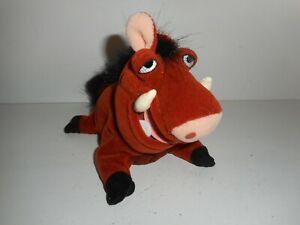 """Vintage Disney Lion King Pumba Talking Plush Toy Doll 8"""""""