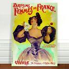"Vintage French Perfume Poster Art ~ CANVAS PRINT 8x10"" Parfums Des Femmes"
