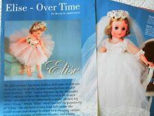 13p History Article + Color Pics - VTG Madame Alexander Elise Dolls Through Time