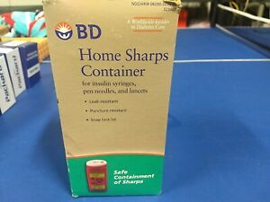 Home Sharps Container for insulin syringes, pen needles, and lancets