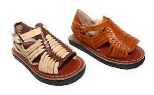 BABY TODDLER HUARACHE SANDALS. AUTHENTIC MEXICAN KIDS LEATHER SANDALS