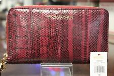 175e9d881298f Michael Kors Snake Skin Mulberry Zip Wristlet Wallet With Tags