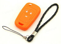 Orange Silicone Case For Opel Vauxhall Astra Insignia Remote Flip Key 3 Buttons