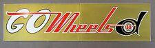 1974 GO DETROIT WHEELS defunct World Football League WFL mint BUMPER Sticker