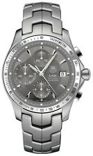 ORIGINAL TAG HEUER LINK CJF2115.BA0594 CHRONO AUTOMATIC GRAY EXHIBITION WATCH