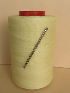 RITZA TIGRE WAXED HAND SEWING THREAD 0.8mm  FOR LEATHER & 2 NEEDLES CREAM JK6