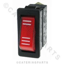 00033 Genuino Dualit 2 OR 3 Ranura Interruptor Selector 230v 3 Pin Rojo Neón