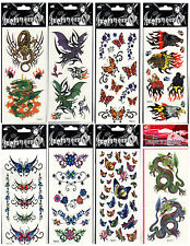 TEMPORARY TATTOO Dragon Butterfly Rose Bat ect