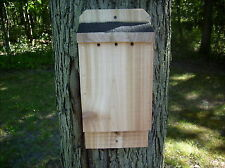 "Wide Cedar Bat House Handmade Solid 7/8"" Rough Sawn Red Cedar L@K Free Shipping"