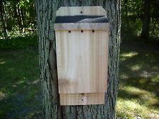 """Wide Cedar Bat House Handmade Solid 7/8"""" Rough Sawn Red Cedar L@K Fast Shipping"""