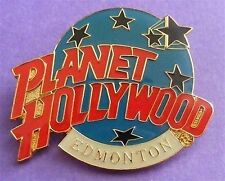 Planet Hollywood EDMONTON Classic Globe Red, White & Light Blue Lapel Pin NEW