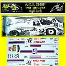 Porsche 956 Pièce Brun Grohs #33 Liqui Moly Brun 1:24 Autocollant Décalcomanie