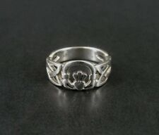Celtic Knots with Claddagh Hands Heart Sterling Silver 925 Band RING Size 9