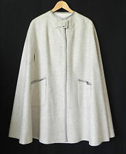 Vtg ILGWU Cape Ivory/Tan Hand Opening 2 Pockets Size M/L
