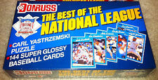 """1990 DONRUSS """"THE BEST OF THE NATIONAL LEAGUE"""" FACTORY SEALED BASEBALL CARD SET"""