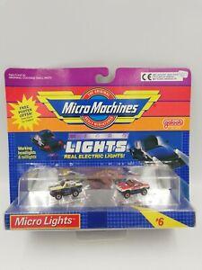 Vintage Micro Machines Micro Lights Set #6 BMW 635 & T-Bird SG, HTF New