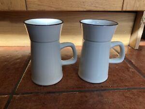 Rare Denby Vintage Retro Cups / Mugs