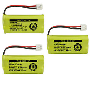 Kastar 3-Pack Battery BT184342 BT284342 for AT&T Vtech GE RCA and Clarity Phone