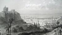 LIBYA View of Capital City Tripoli Africa - 1863 Original Antique Print