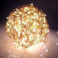 Warm White LED Light Curtain String Fairy Lights Xmas Wedding Party Outdoor Lamp
