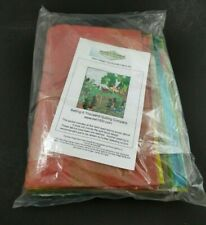 Wee Village Quilt Fabric Kit Countryside Hand Dyed Tie Dye Batik Cotton Colorful