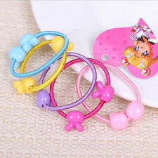 50Pcs Assorted Elastic Rubber Hair Rope Band Ponytail Holder for Kids W&T