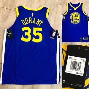 Nike Kevin Durant Warriors Authentic VaporKnit Jersey AV2643 495 Blue Size 52 XL