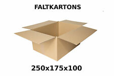 100 Faltkartons 250 x 175 x 100mm Karton Faltschachtel Pappe S Paket Päckchen