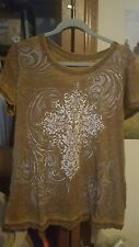 Maurices brown embellished cross lacing top Premium size XL NWT